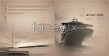 Link toCreative graphic design boat marine psd