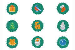 Link toCreative green christmas elements icon vector