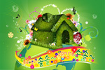 Link toCreative green psd