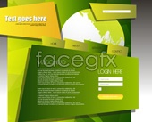 Link toCreative green web template vector