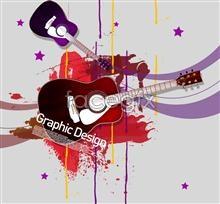 Link toCreative guitar design element psd