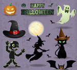Link toCreative halloween elements vector