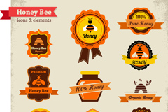 Link toCreative honey product labels vector