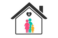 Link toCreative housing family logo vector