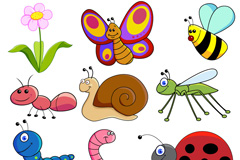 Creative insect design vector