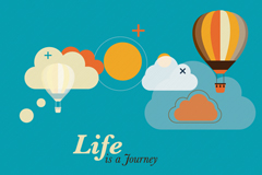 Link toCreative journey vector illustration