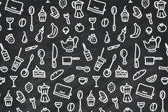 Creative kitchen element background vector