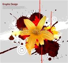 Link toCreative korea design element flower background of psd