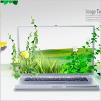 Link toCreative laptop poster template layered