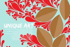 Link toCreative leaf pattern design vector