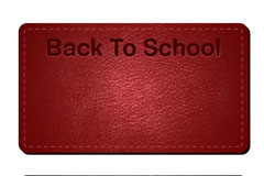 Link toCreative leather back to school theme banner vector