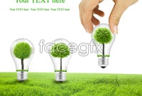 Creative light bulb green poster picture