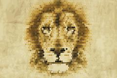 Link toCreative lion pixel head vector
