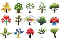 Link toCreative little tree icon vector map