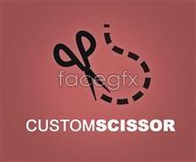 Link toCreative logo psd logo scissors pattern