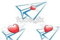 Link toCreative love paper plane vector graphics