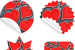 Link toCreative love stickers vector