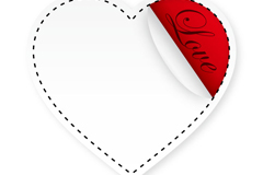 Link toCreative love tag vector