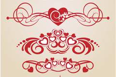 Link toCreative loving frame of the pattern vector