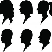 Link toCreative man and woman silhouettes vector set 05 free
