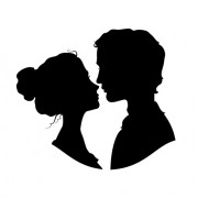 Link toCreative man and woman silhouettes vector set 07 free