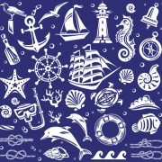 Link toCreative marine elements vector pattern 01 free