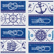 Link toCreative marine elements vector pattern 03 free