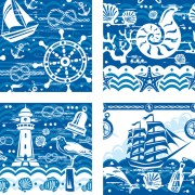 Link toCreative marine elements vector pattern 04 free