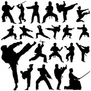 Link toCreative martial art vector silhouettes free
