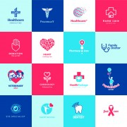 Link toCreative medical and healthcare logos vector set 02 free