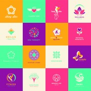 Link toCreative medical and healthcare logos vector set 03 free