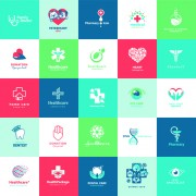 Link toCreative medical and healthcare logos vector set 04 free