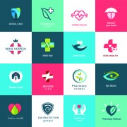 Link toCreative medical and healthcare logos vector set 06 free
