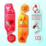 Link toCreative medical banner with number vector 04