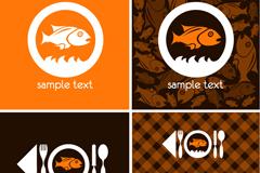 Link toCreative menu fish-shaped decoration vector