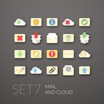 Creative message icon vector