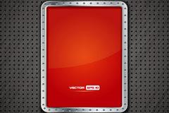 Link toCreative metal frame plate background vector