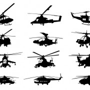 Link toCreative military helicopter silhouette vector free