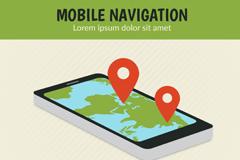 Link toCreative mobile phone navigation vector illustration