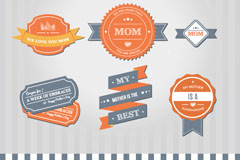 Link toCreative mother's day tag vector
