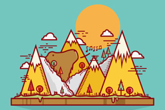 Link toCreative mountain bear vector illustration