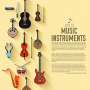Link toCreative music instruments background vector graphics 03 free