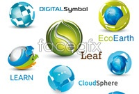 Creative natural icon vector free