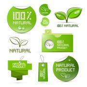 Link toCreative natural product stickers and labels vector 01 free