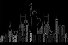 Link toCreative new york city silhouette vector