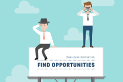 Link toCreative opportunity for business people vector illustration