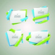Link toCreative origami banner vector graphics 04