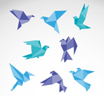 Link toCreative origami bird vector