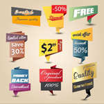 Link toCreative origami promotional labels vector