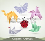 Creative origami shapes vector